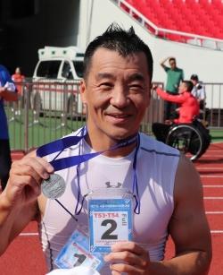 제27회 서울국제휠체어마라톤대회 풀코스 준우승자이자 국내 1위를 차지한 유병훈 선수.