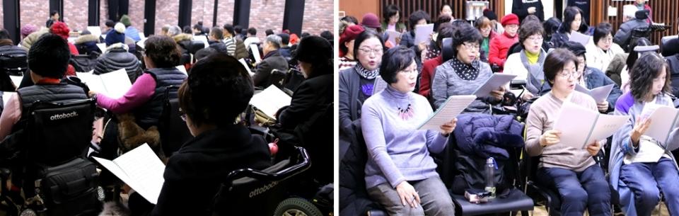 대한민국휠체어합창단 이음센터 연습 사진_소셜포커스